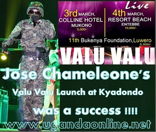 Jose Chameleone in action at Kyadondo Rugby Grounds