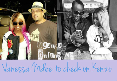 Vanessa Mdee with Ali Alibhai and Kenzo