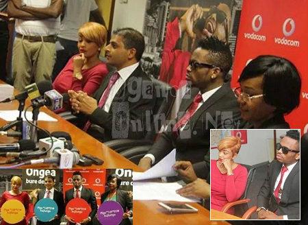 Zari and Platnumz at the Vodacom press conference