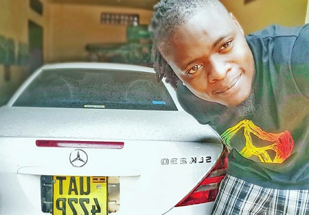 Pallaso showing off his ride from Weasel