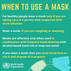 When to use a mask...
