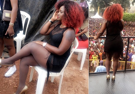 This was Winnie Nwagi's attire at the carnival