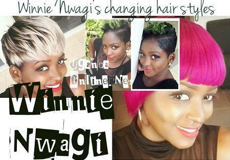 Winnie Nwagi's changing hair styles