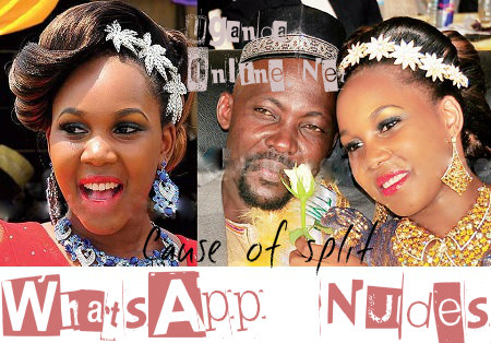 Mutasa Kafeero's daughter and hubby on their wedding