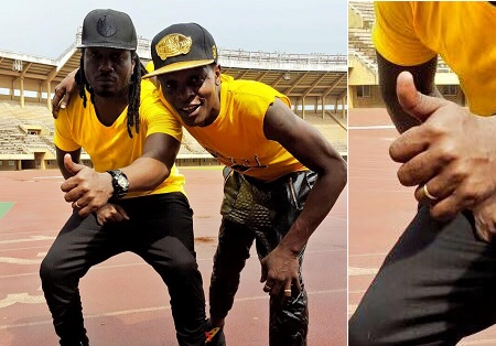 Bebe Cool and Chameleone at Nambole Stadium for the Yellow video