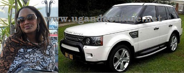 Zari and her white Range Rover Sport