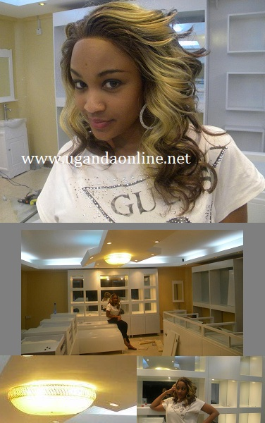 Zari at her Garden City based shop
