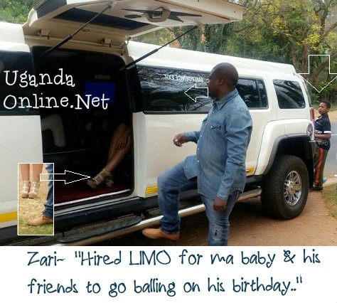 Ivan gets into the limo for an up close with Zari