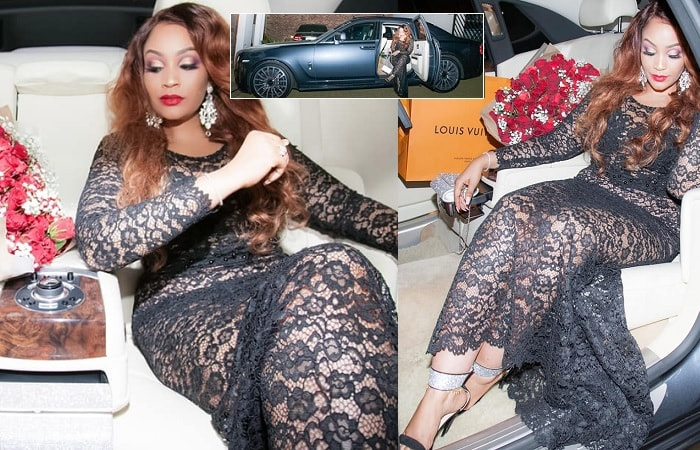 Zari strikes a pose in her hubby's Rolls Royce