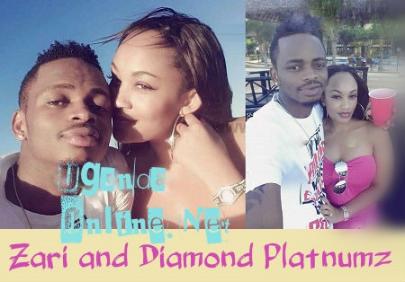 Zari and Diamond Platnumz at a hotel in Dar-es-salaam