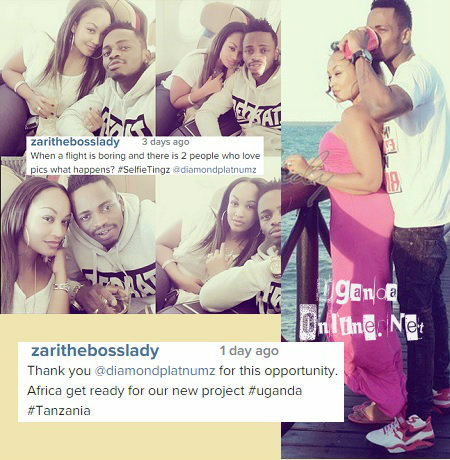 Zari and Diamond Platinumz get cozy