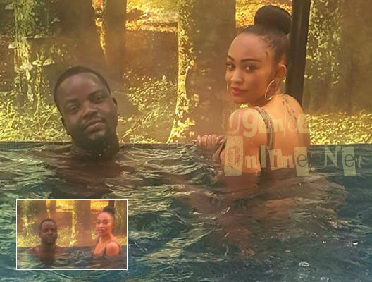 Zari and Edwin in the hot tub