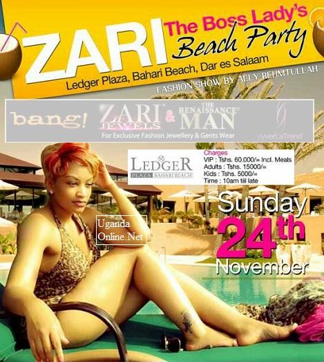 Zari Boss Lady's Beach Party in Tanzania