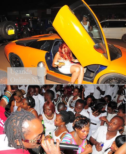 Zari arriving at Guvnor forthe Ciroc White party and below is Moze Radio performing