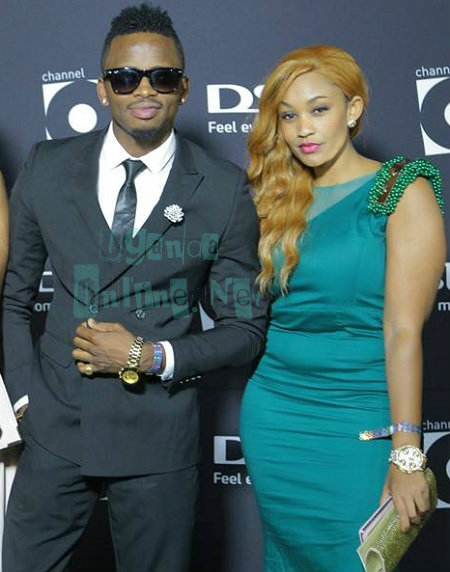 Diamond Platnumz and Zari at the awards event in South Africa