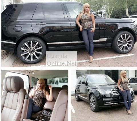 Zari next to her Range Rover Evoque