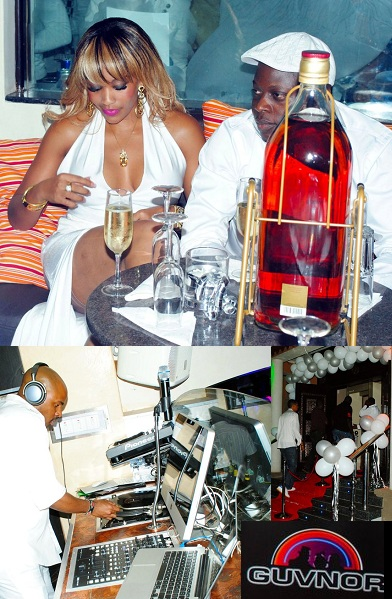 Zari and Ivan at Guvnor during the All White Champagne Party