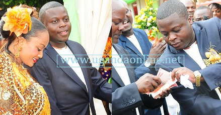 Ivan and Zari on their introduction ceremony in Munyonyo last year