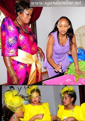 Halima Namakula and Zari during her Kwanjula