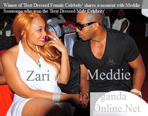 Zari and Meddie share a moment during the awards