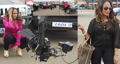 Zari during the shooting of her video