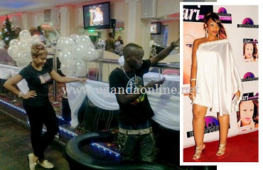 Zari and MC Kats ensring all is well at the venue and inset is Zari at the white party last year
