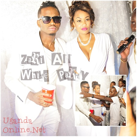 Diamond and Zari at Guvnor - All White Party