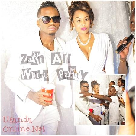 Diamond and Zari at Guvnor - All White Party