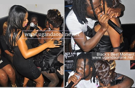 Zuena and Bebe Cool performing for Bad Black during her birthday last year