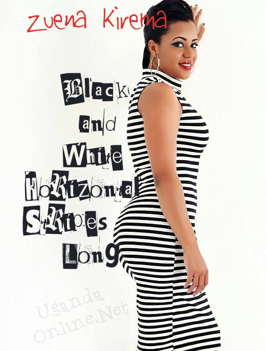 Black and white horizontal stripes casual dress