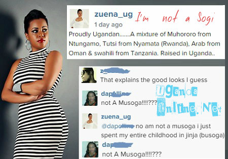 Zuena's post in which she says she is not a Musoga