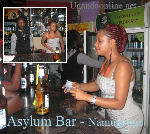 Bebe Cool and Zuena as bartenders at Aslum bar in Namugongo.