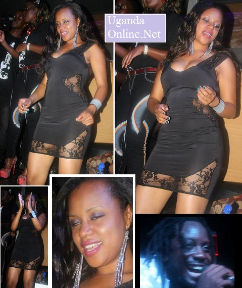 Zuena having fun as hubby performed at Club Silk