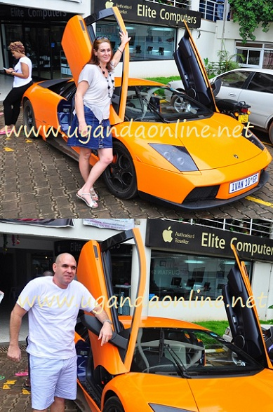 Different Zungu's were spotted at Garden City posing next to the Lambo